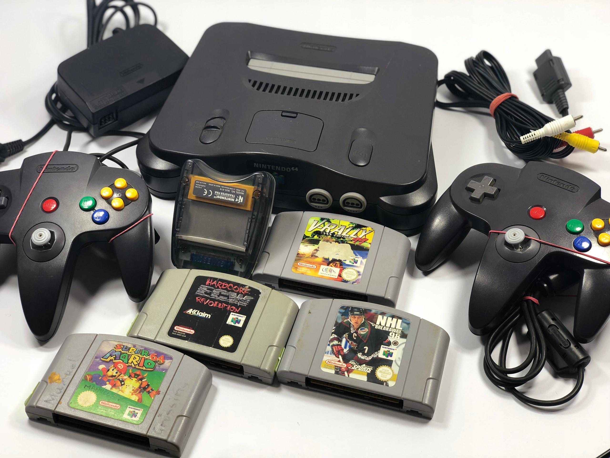 Nintendo 64 ! Gry ! Mario ! 2 Pady ! Transfer Pak