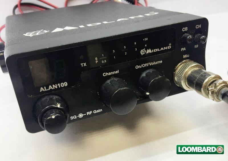 CB RADIO MIDLAND ALAN109 + ANTENA