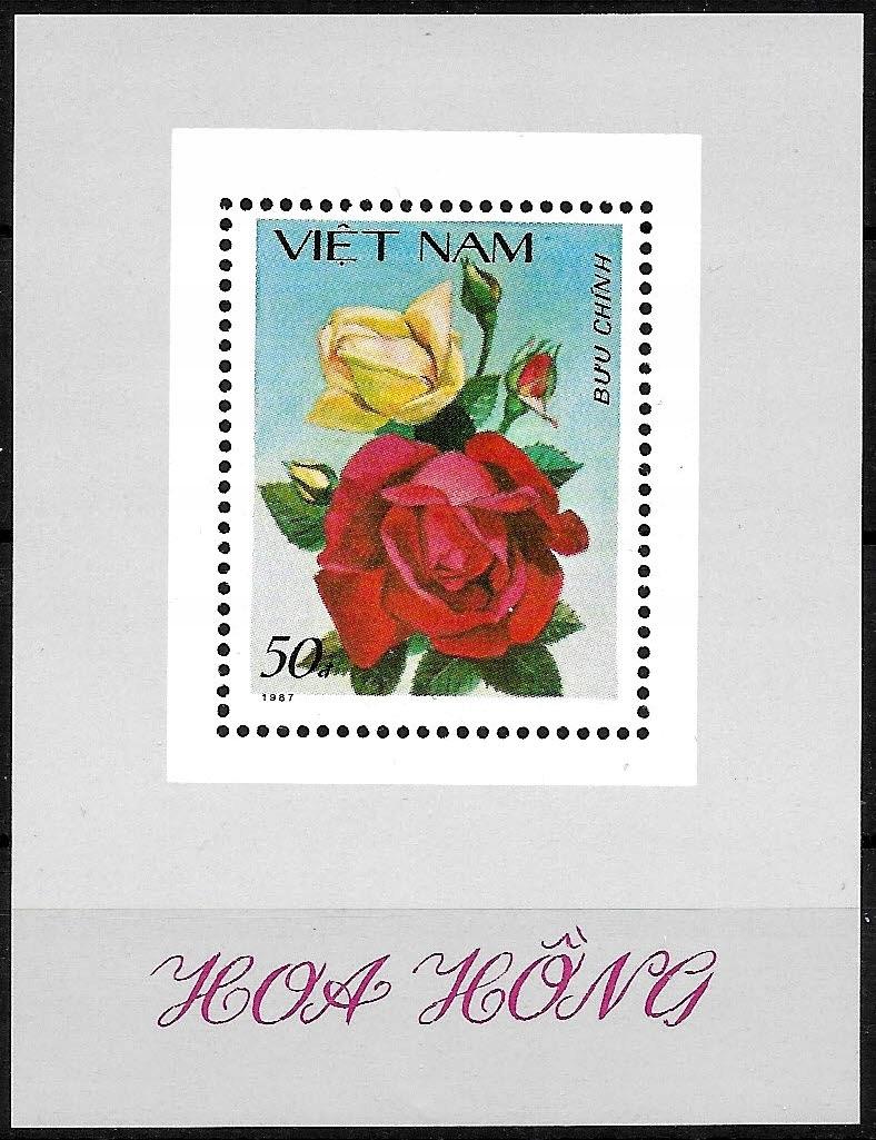 FL903 1988 FLORA kwiaty bl.** Wietnam