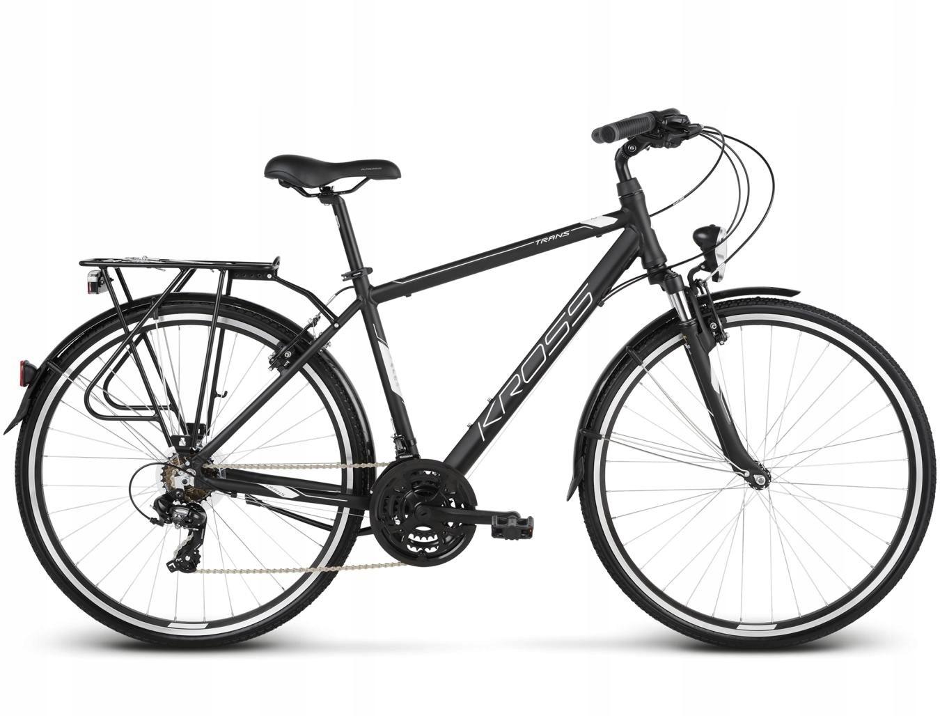 """Rower Kross Trans 1.0 S 28""""męski czarny/biały"""