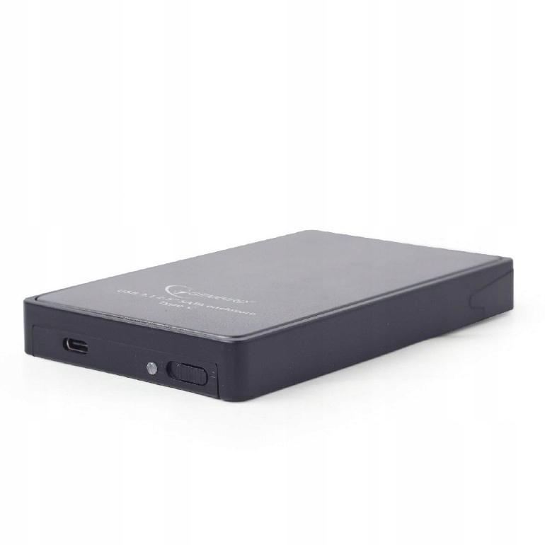 GEMBIRD Obudowa USB 3.1 dysk 2.5 cali/typ-c/czarna