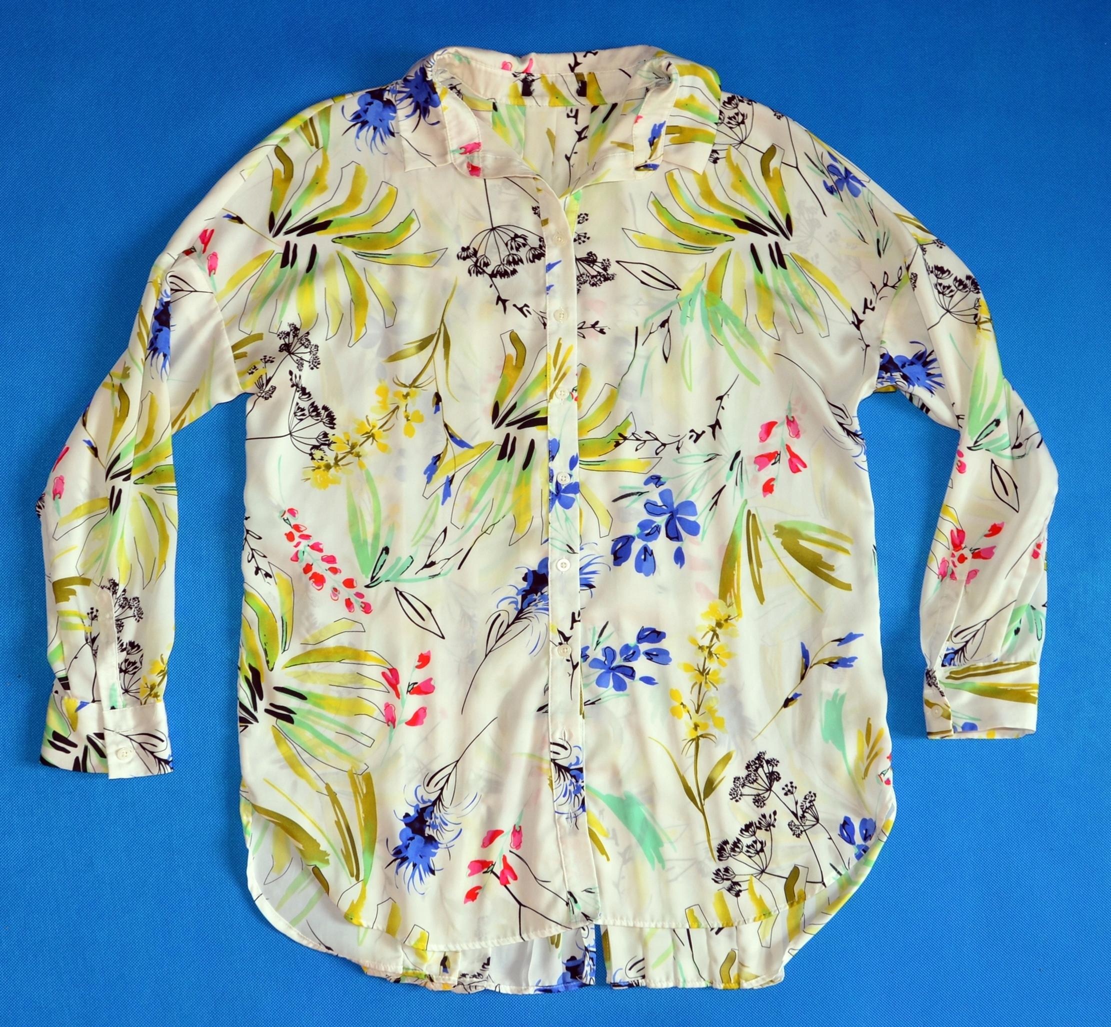 MARKS&SPENCER koszula w kwiaty plisy rozmiar M