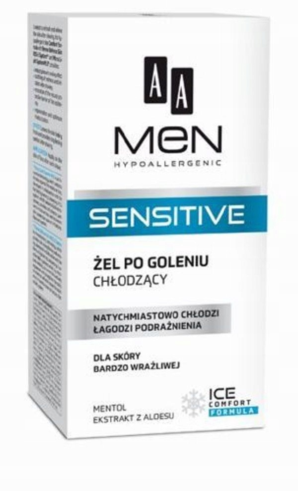 AA Men Sensitive Cooling After Shave Gel chłodzący