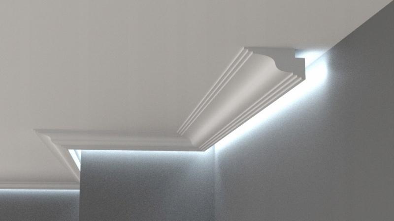Gzyms Oświetlenie Sufitowe Na ścianę Led 5x9cm Xps