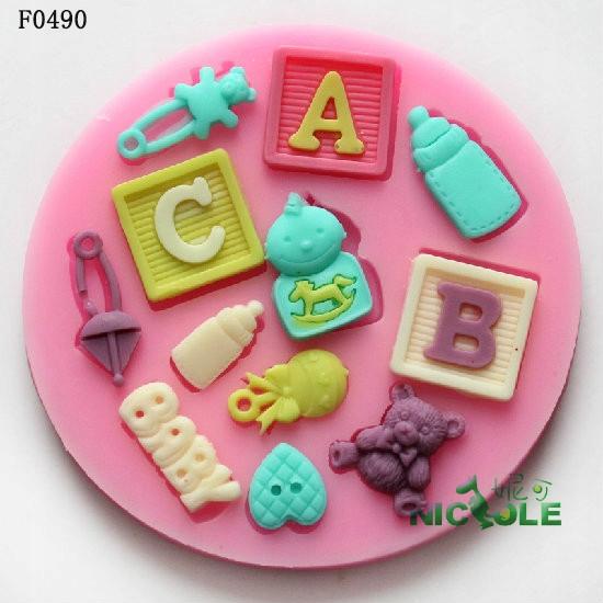 Forma silikonowa masa cukrowa baby dziecko ABC