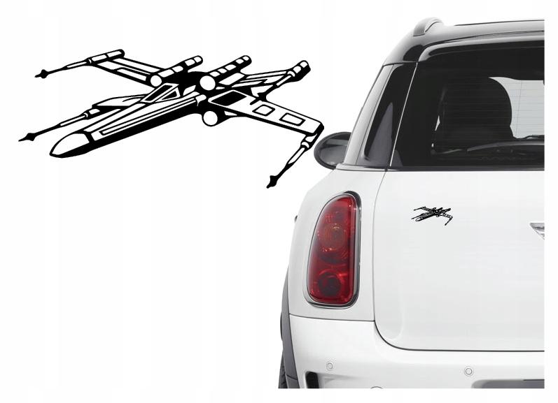 Naklejka na samochód / samochodowa Star Wars XWing