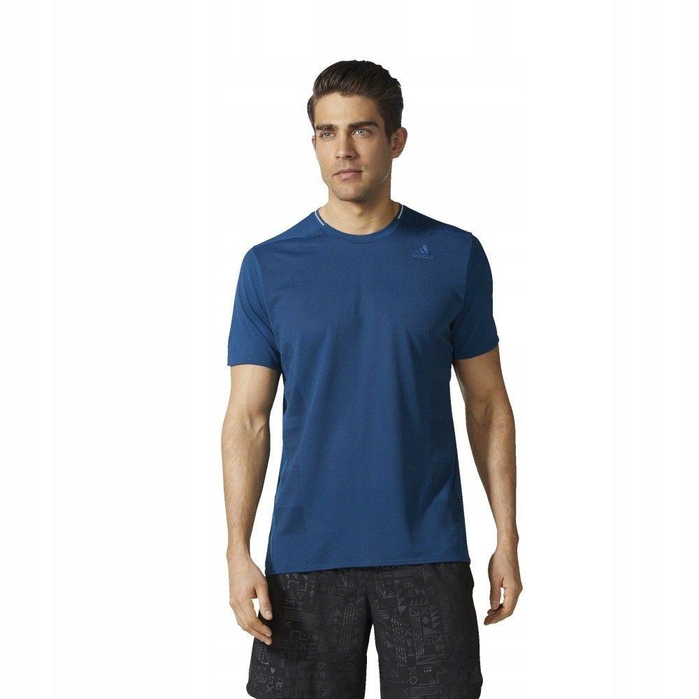 Koszulka adidas SN SS TEE M CE5815 - NIEBIESKI; L
