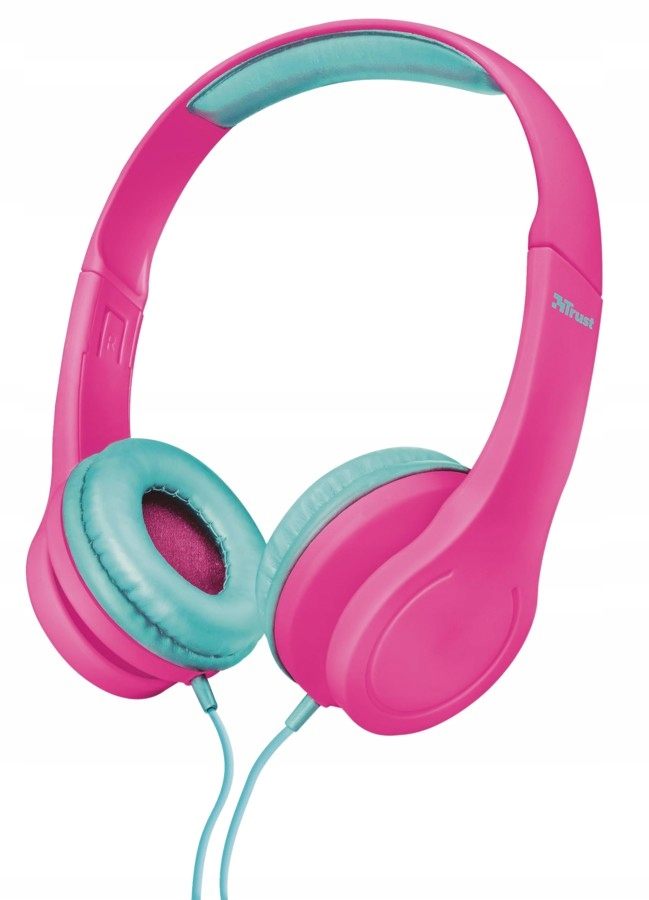 TRUST Bino Kids Słuchawki - różowe
