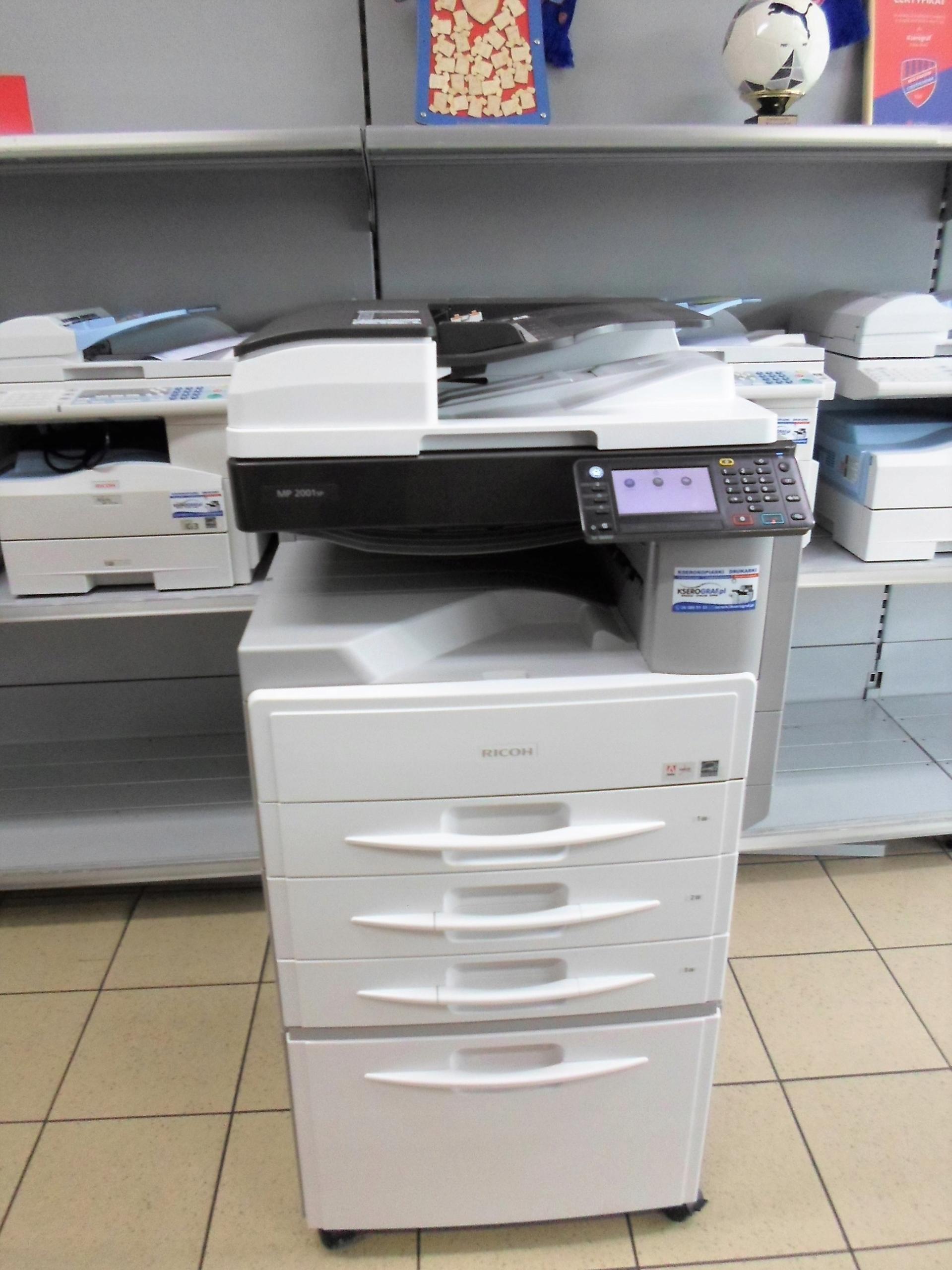 Kserokopiarka drukarka Ricoh MP 2001 Licznik: 78