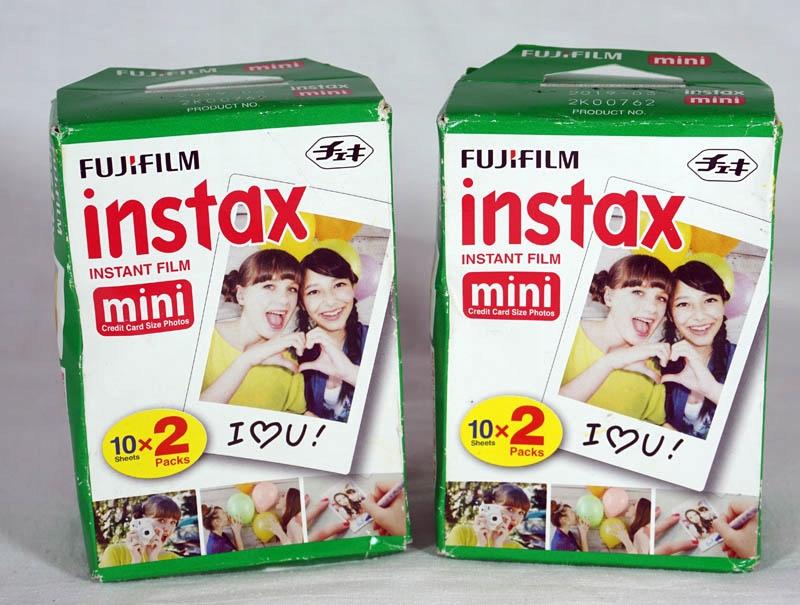 Fuji instax mini zestaw na 20 zdjęć