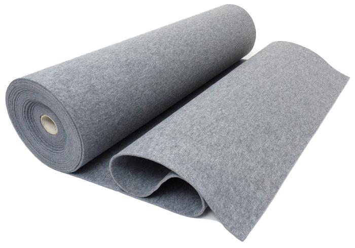 Filc SZARY 7 mm 800 g/m2 - na torebki etui -1.5 m2