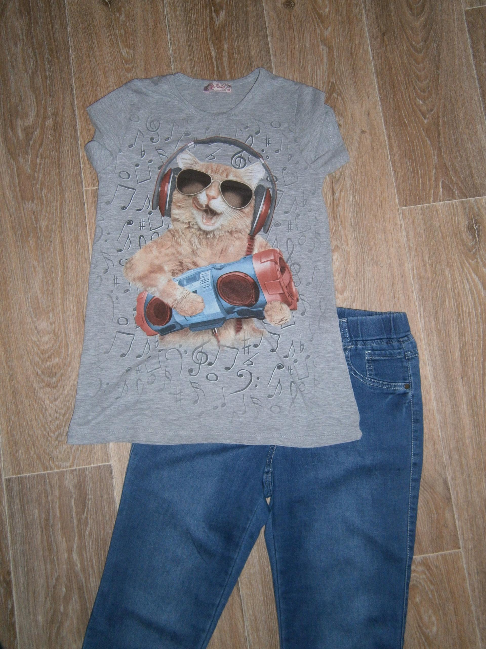 Jeansy i dwie bluzeczki - COCCODRILLO