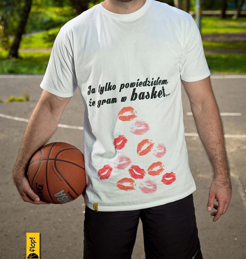 koszulka T-shirt ORYGINALNY nadruk koszykówka