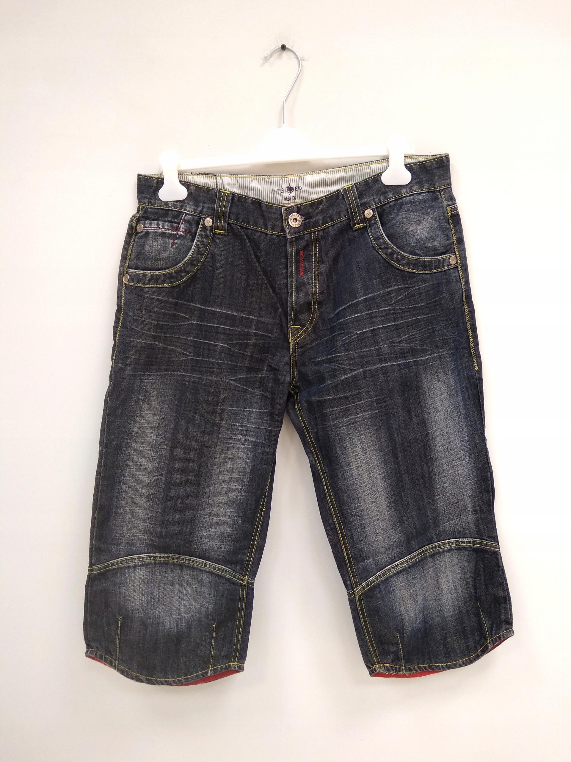 Spodnie 3/4 jeansy damskie r. 38 B10