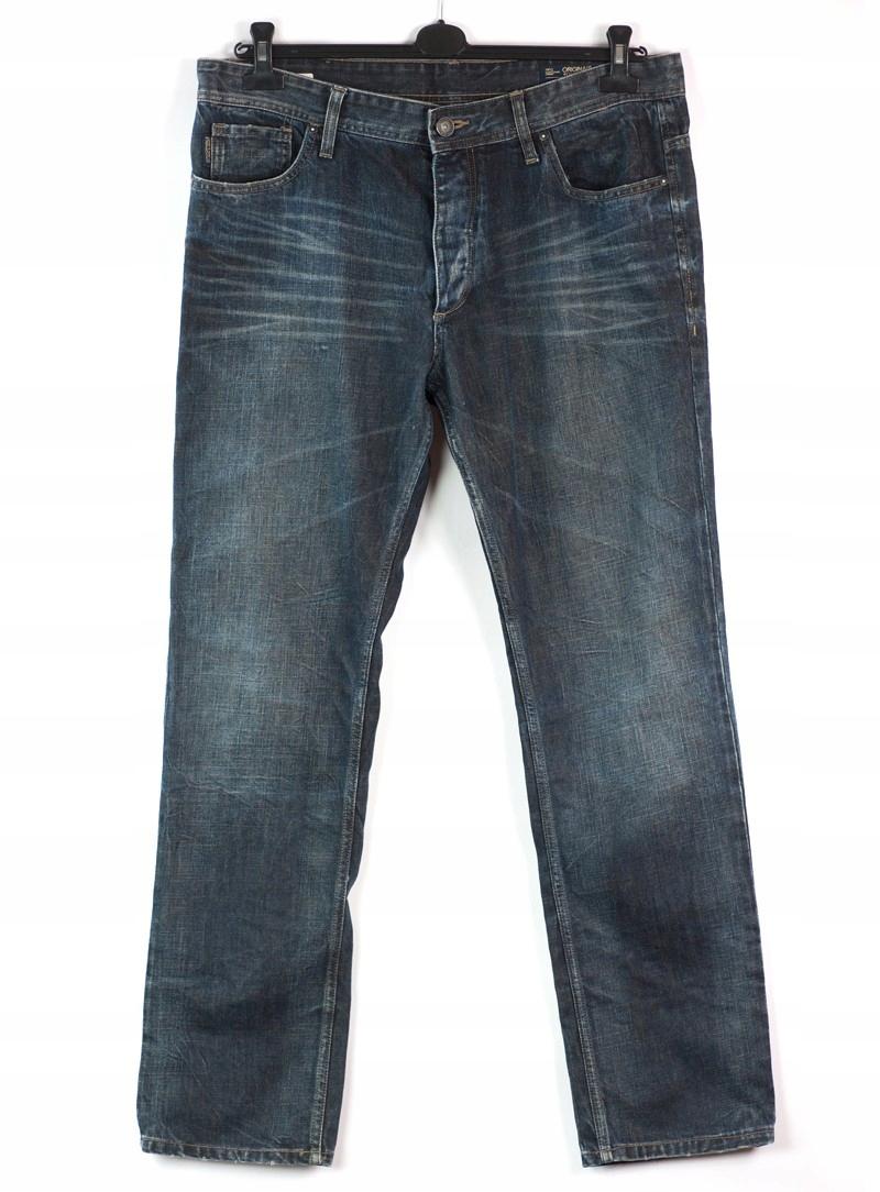 Męskie jeansy ciemne proste marki Jack&Jones