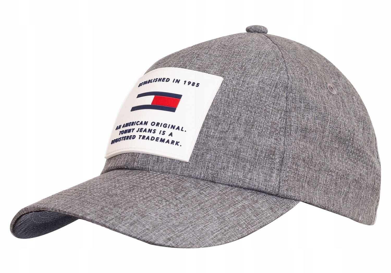 TOMMY HILFIGER CZAPKA MĘSKA FLAG CAP GRAY
