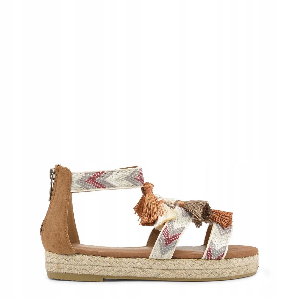Xti sandały damskie brązowy EU 39