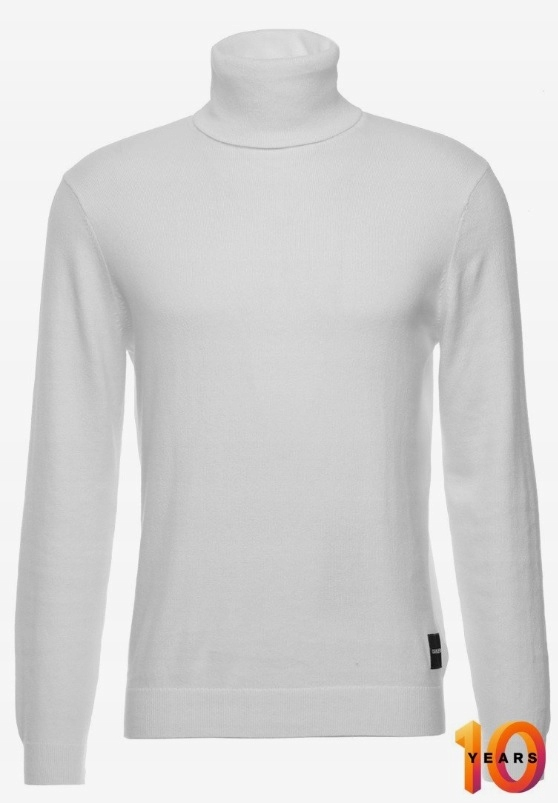 Sweter Calvin Klein BLEND TURTLE NECK biały