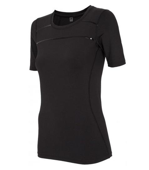 4F NOWA czarna koszulka treningowa damska TSDF115