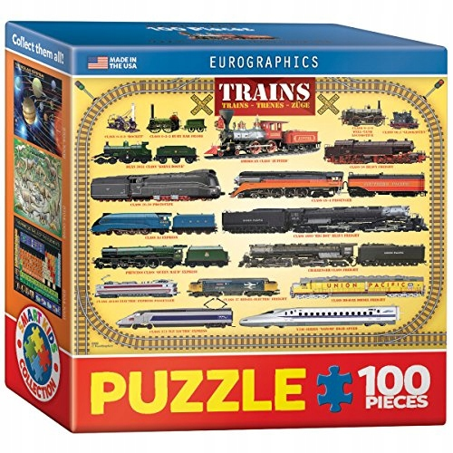 Eurographics Trains Mini Puzzle (100 Pieces)