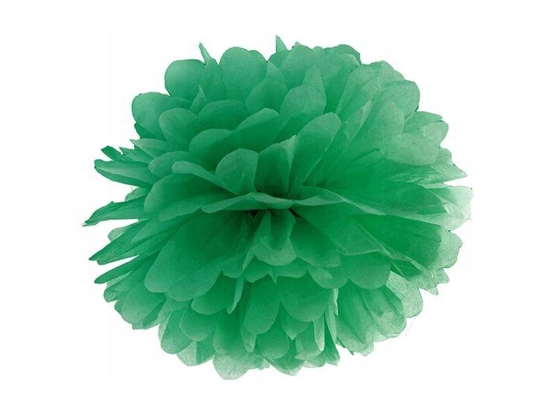 Zielone Pompony Dekoracyjne Duże Kule Z Bibuły 7548165053