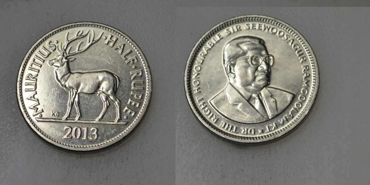 Mauritius 1/2 Rupia 2013 rok BCM