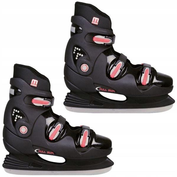 NIJDAM 0089 łyżwy hokejowe roz 43 czarne 38-J +