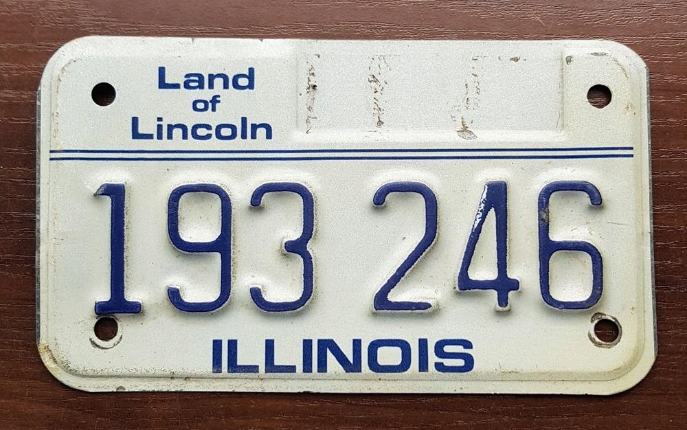 Tab. rejestracyjna USA - ILLINOIS - motocyklowa
