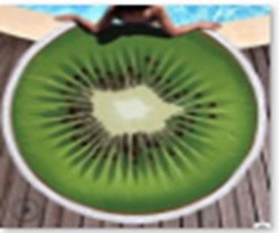 Duży ręcznik plażowy okrągły pled kiwi