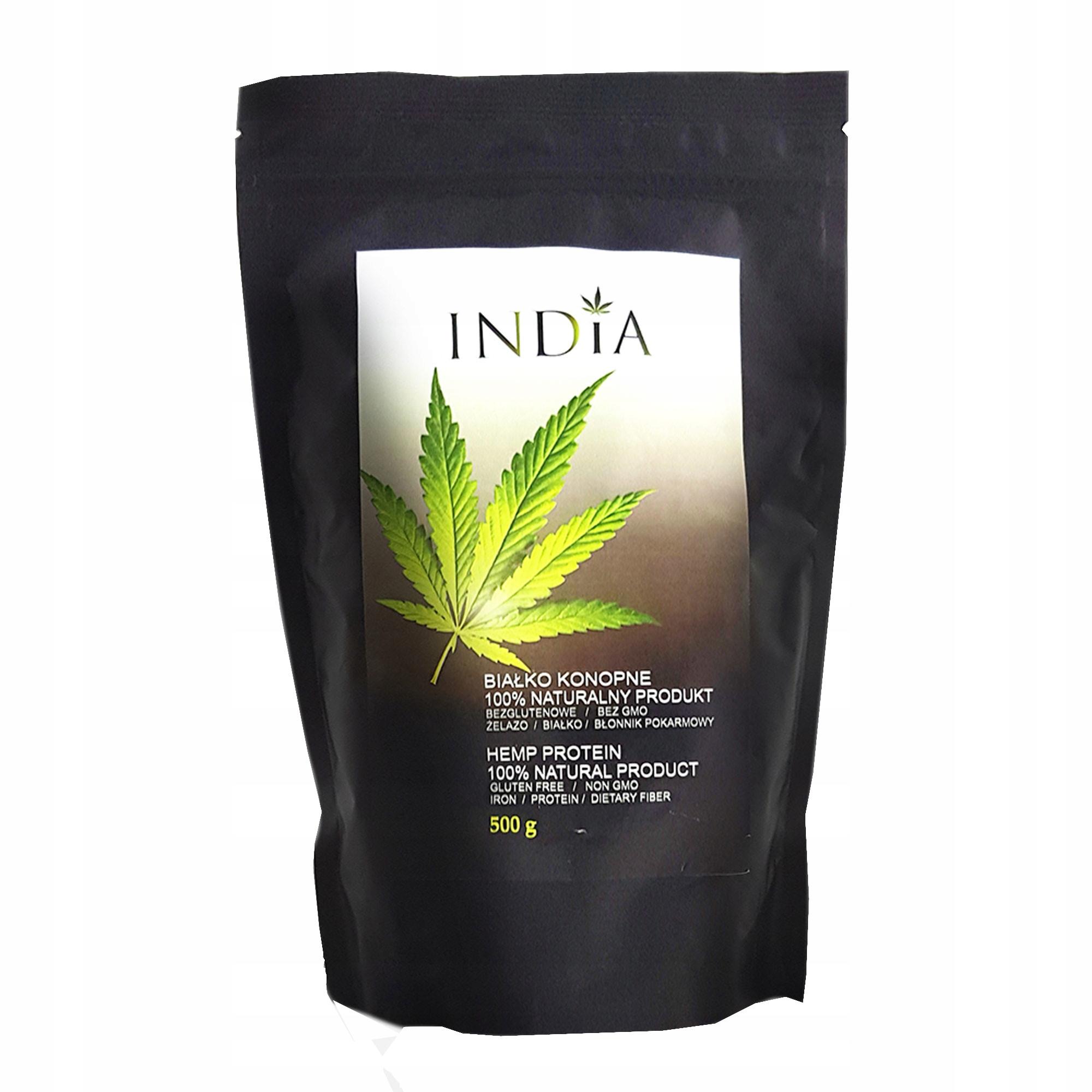 Białko konopne India 500 gBEZ GMO OSTATNIE SZTUKI