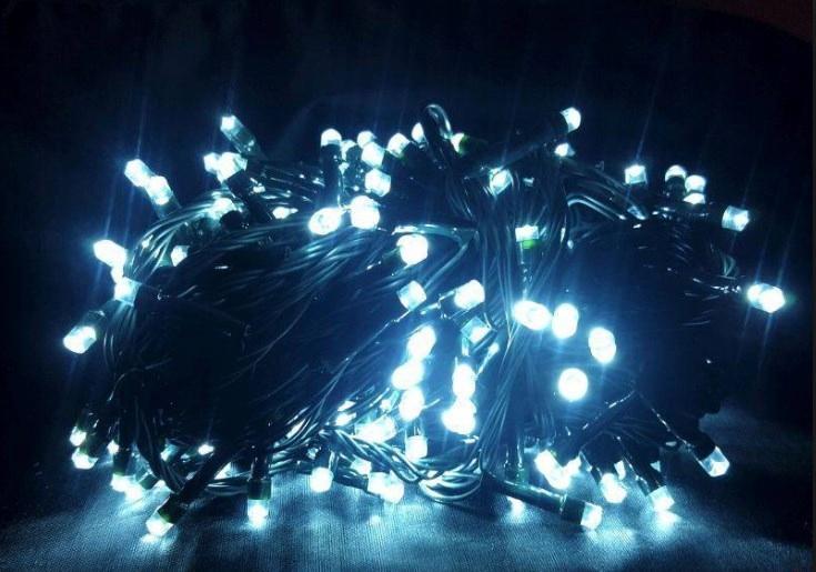 LAMPKI CHOINKOWE 180 LED ZIMNA BIEL MULTIFUNKCYJNE