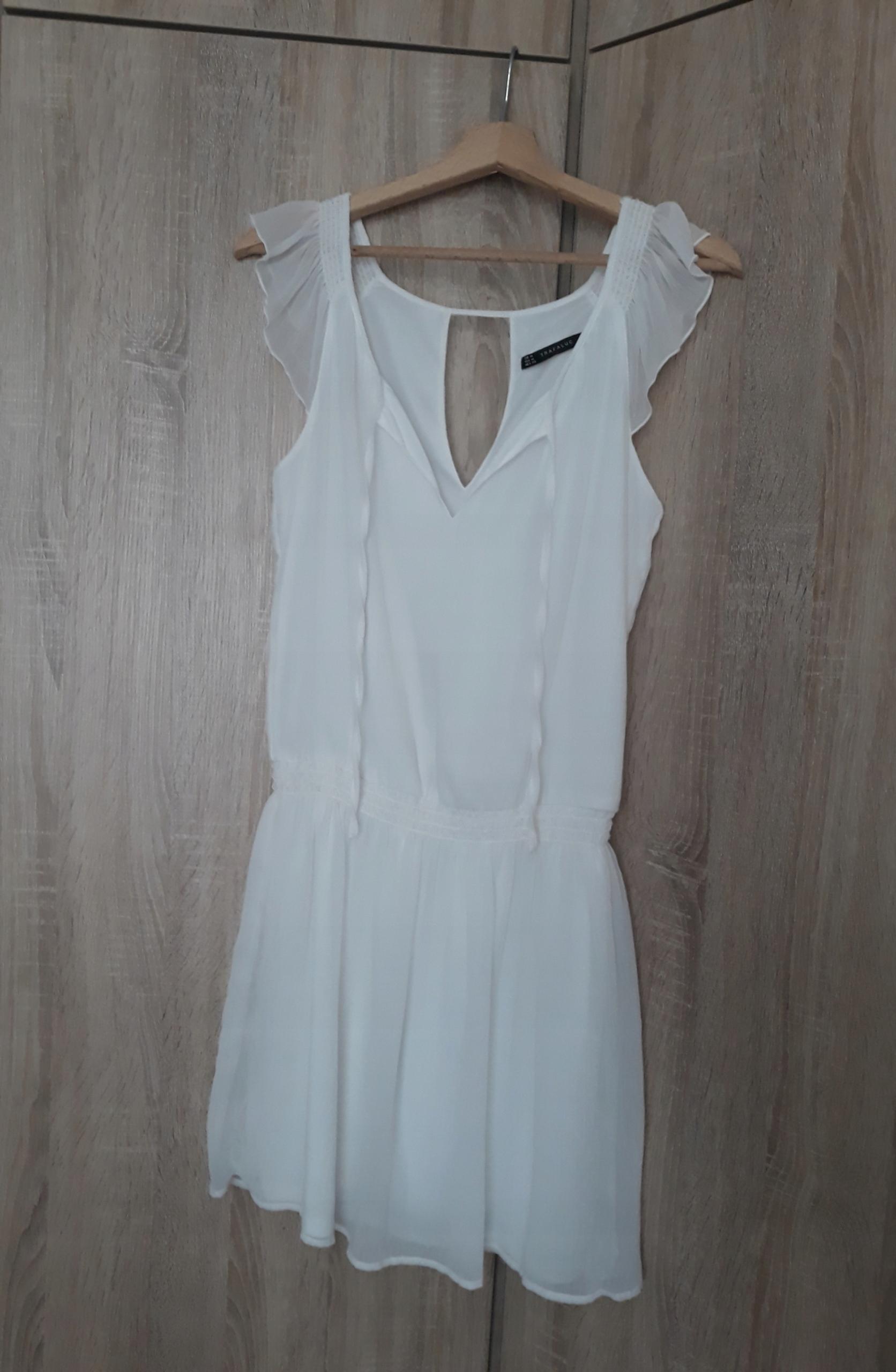 Sukienka zara zwiewna biała jak nowa 38/M