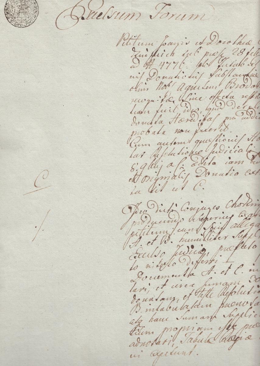 1800 polski Dokument łacina revenue