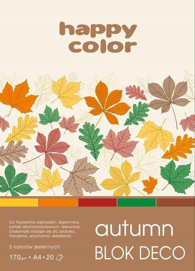 Blok A4/20K Deco Autumn 170g HAPPY COLOR