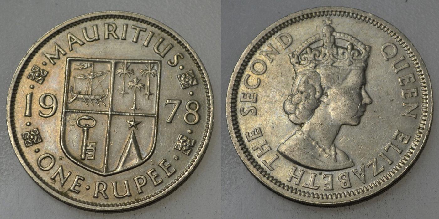 Mauritius 1 Rupia 1978 rok BCM