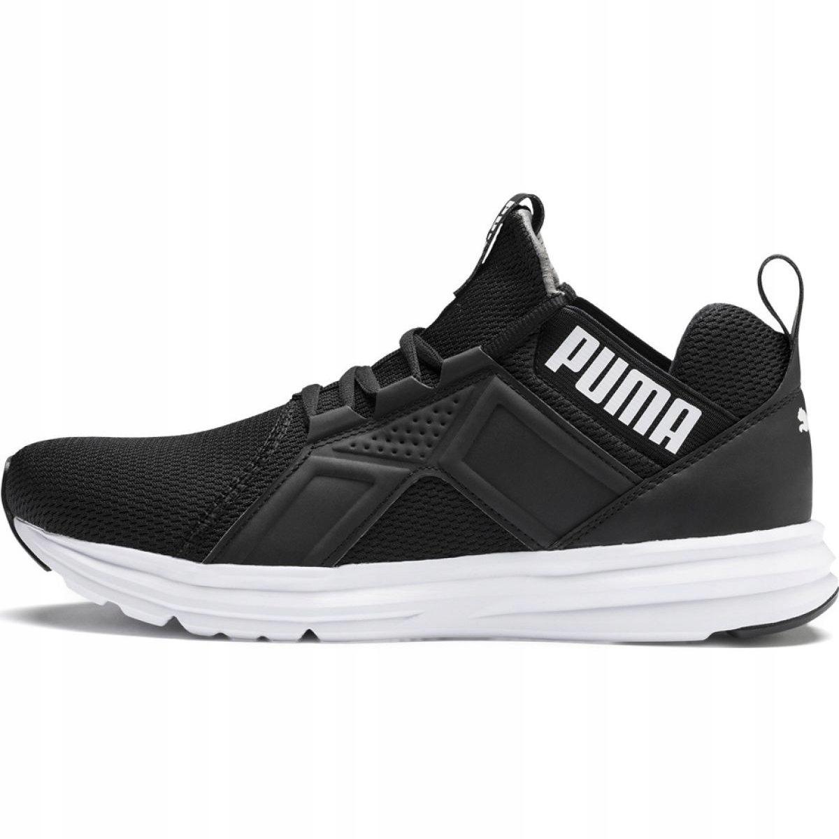 Białe Czarne Tekstylne Buty Sportowe Puma r.43
