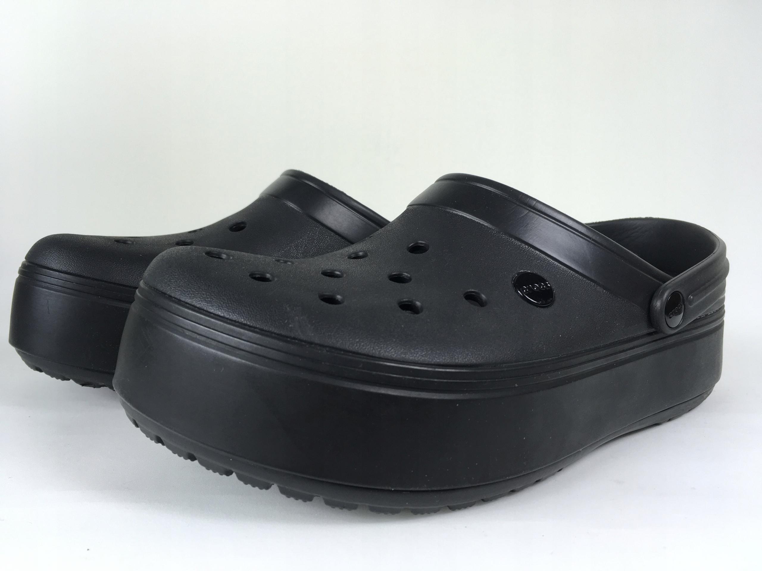 148 Crocs czarne klapki chodaki wysokie 41,5 42