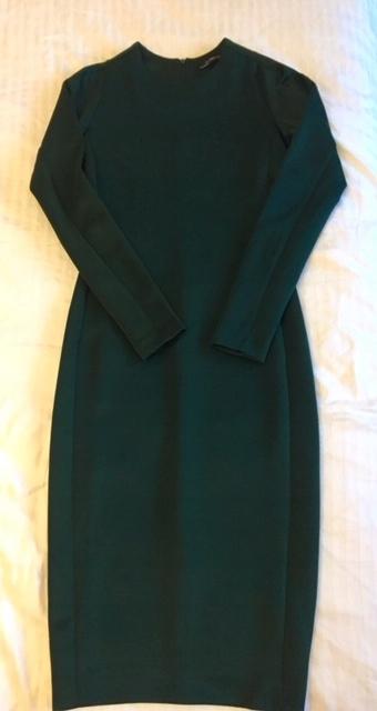 Bandażowa sukienka ZARA r. M, butelkowa zieleń