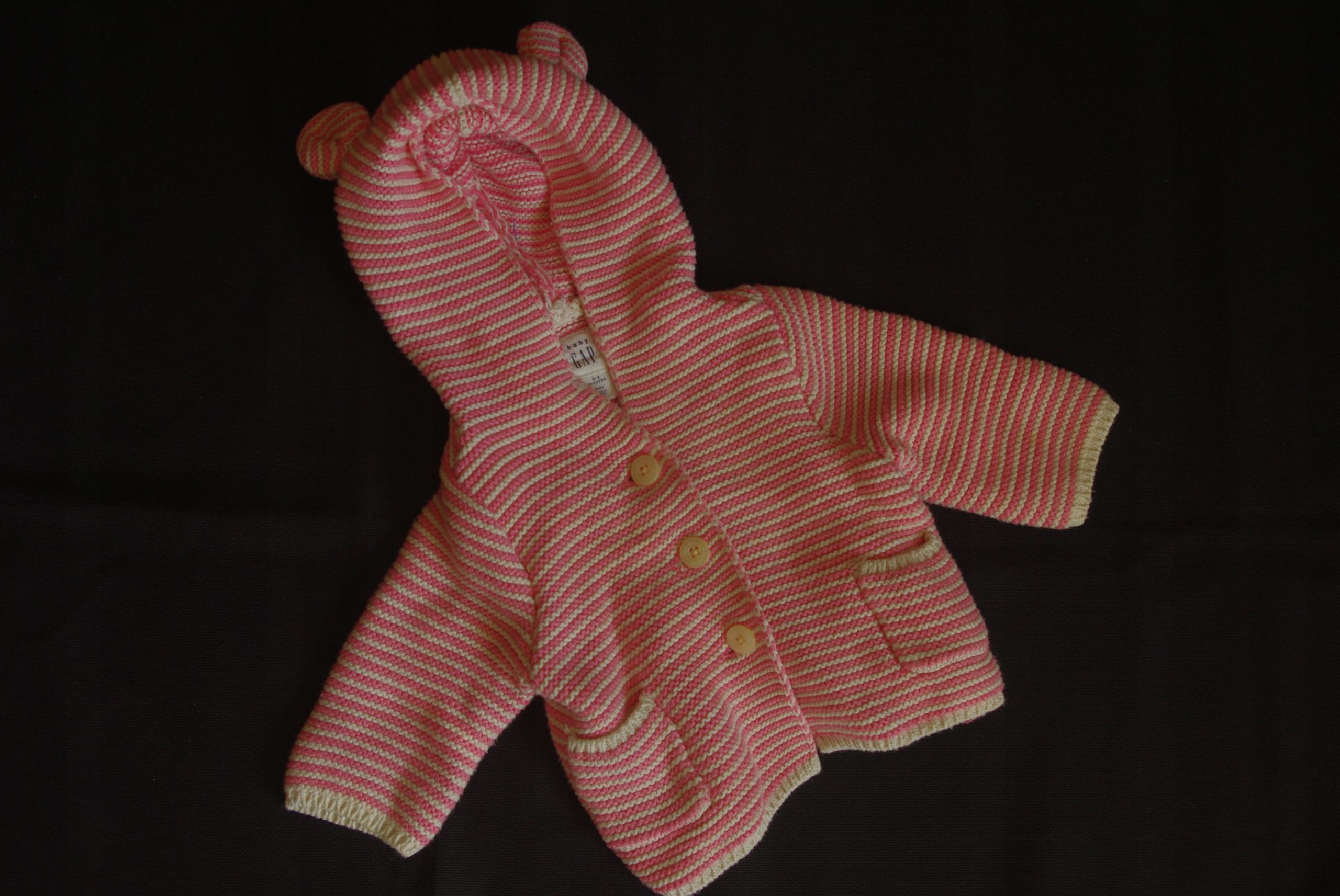 Sweterek różowy dla maluszka 56cm GAP_4261