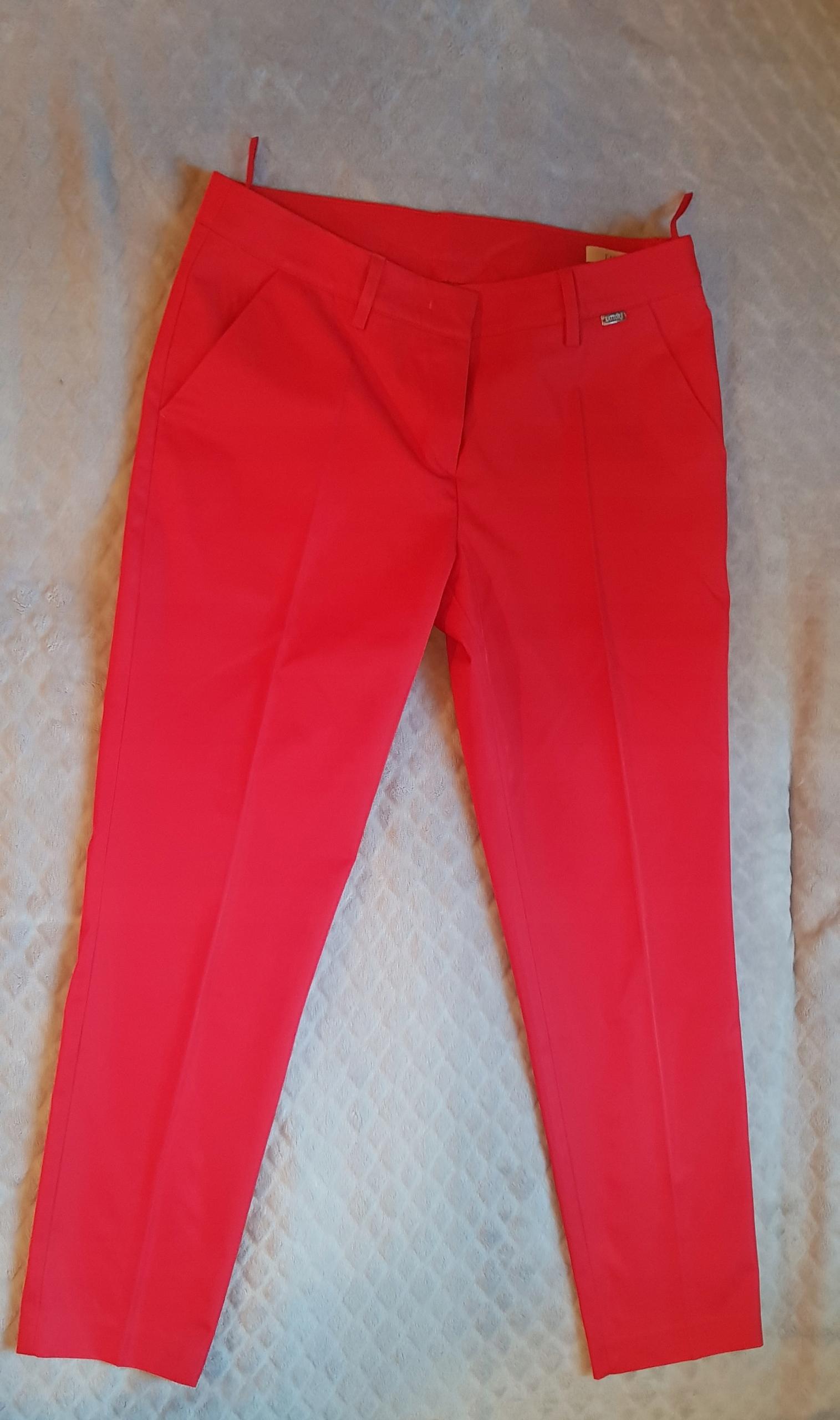 Spodnie czerwone rurki w kancik r. 38 Lattore