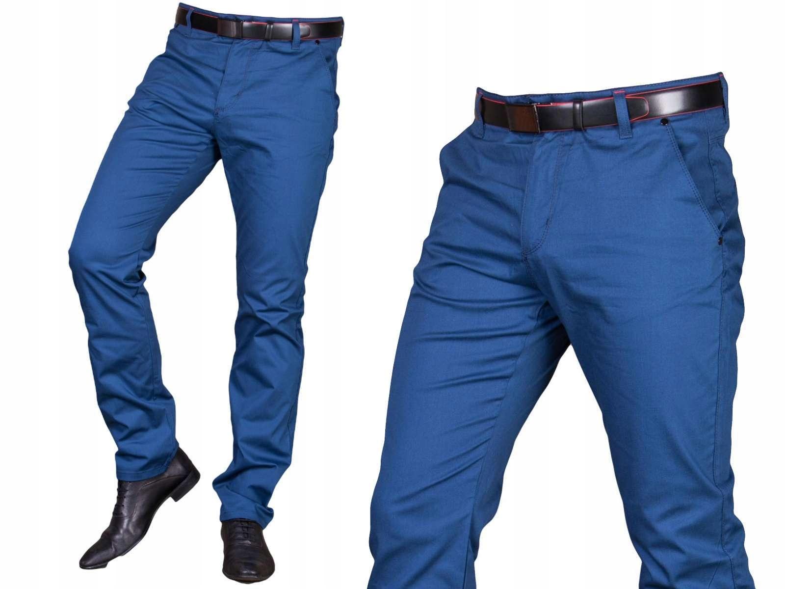 Spodnie wizytowe niebieskie 2501 fm2 r. 31 promo