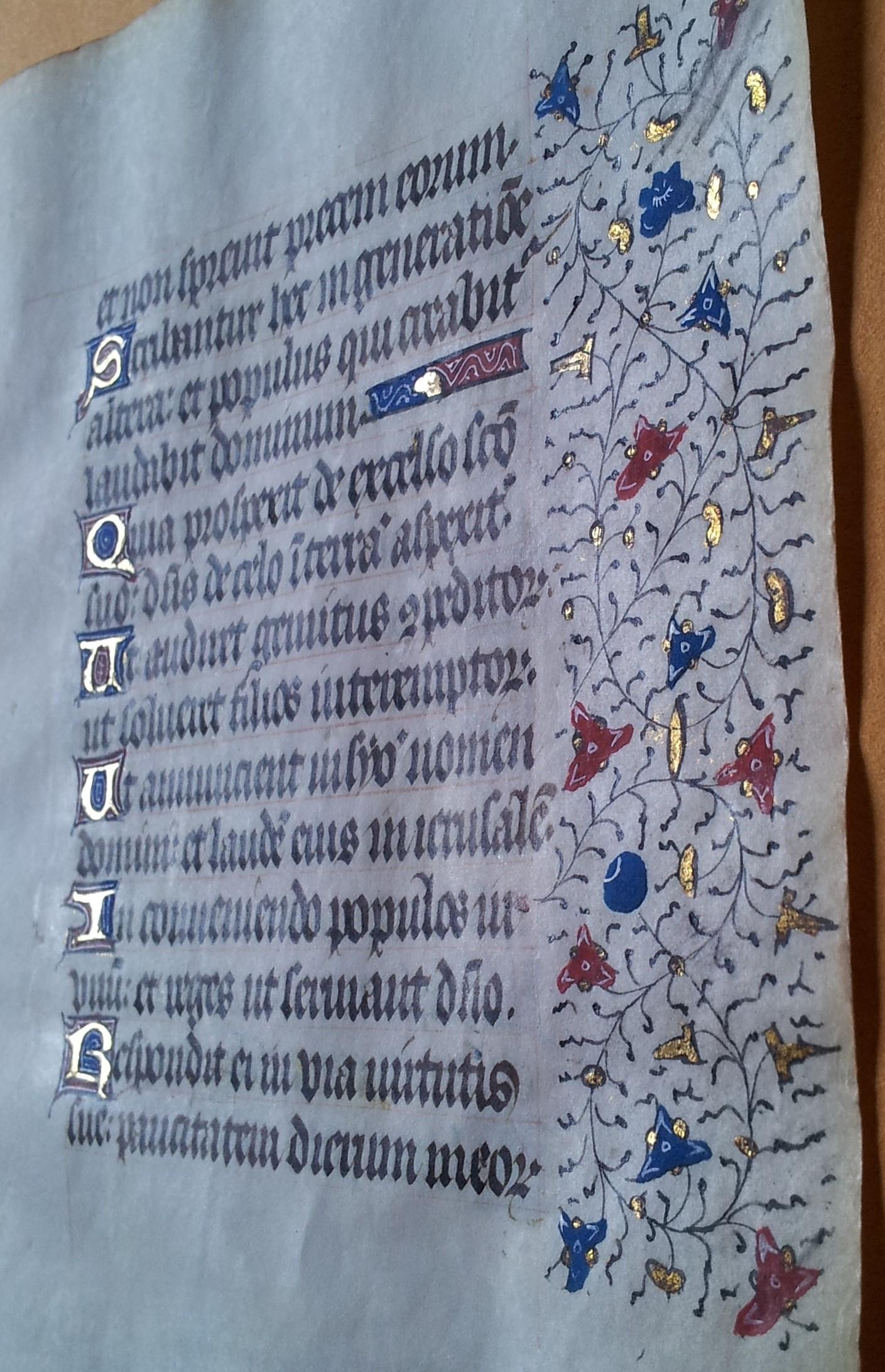 1401 r Stary Testament Księga Psalmów Złote litery