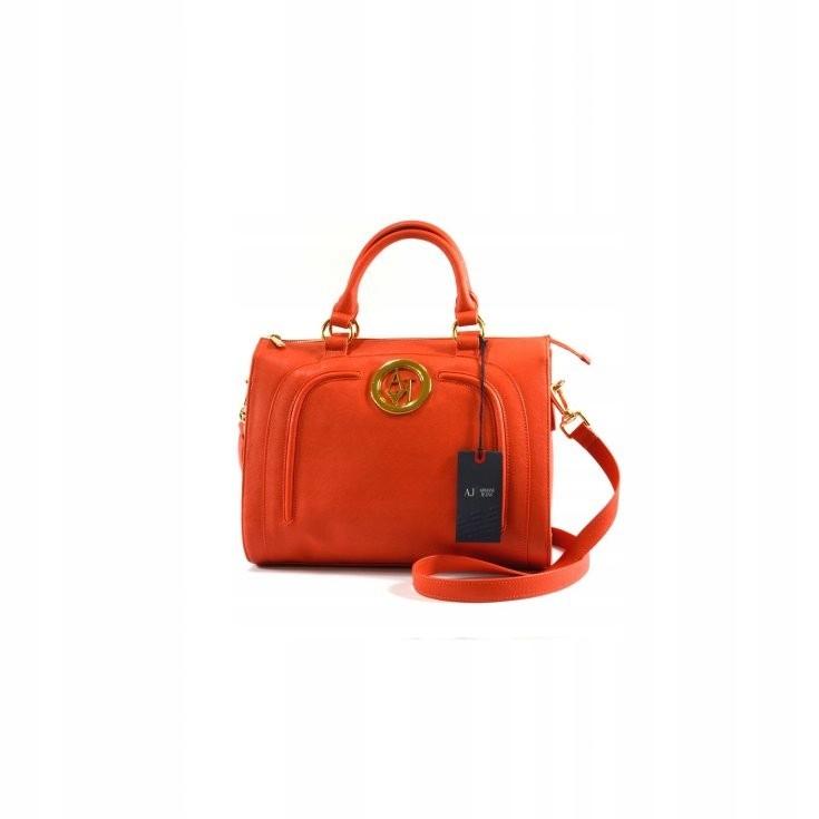 Armani Jeans pomarańczowy zgrabny kuferek damski