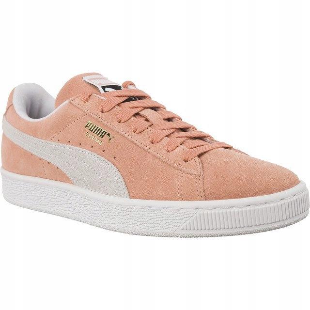 Różowe Zamszowe Buty Damskie Trampki Puma r.38,5