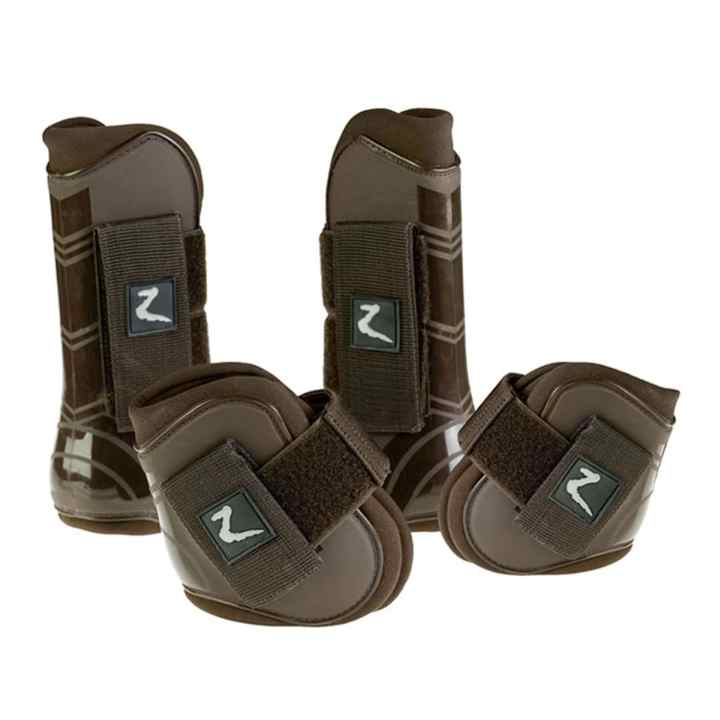 Ochraniacze ProTec Horze 4 szt brązowe pony