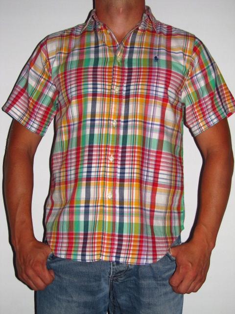 RALPH LAUREN SUPER Koszula w KRATKĘ roz 164