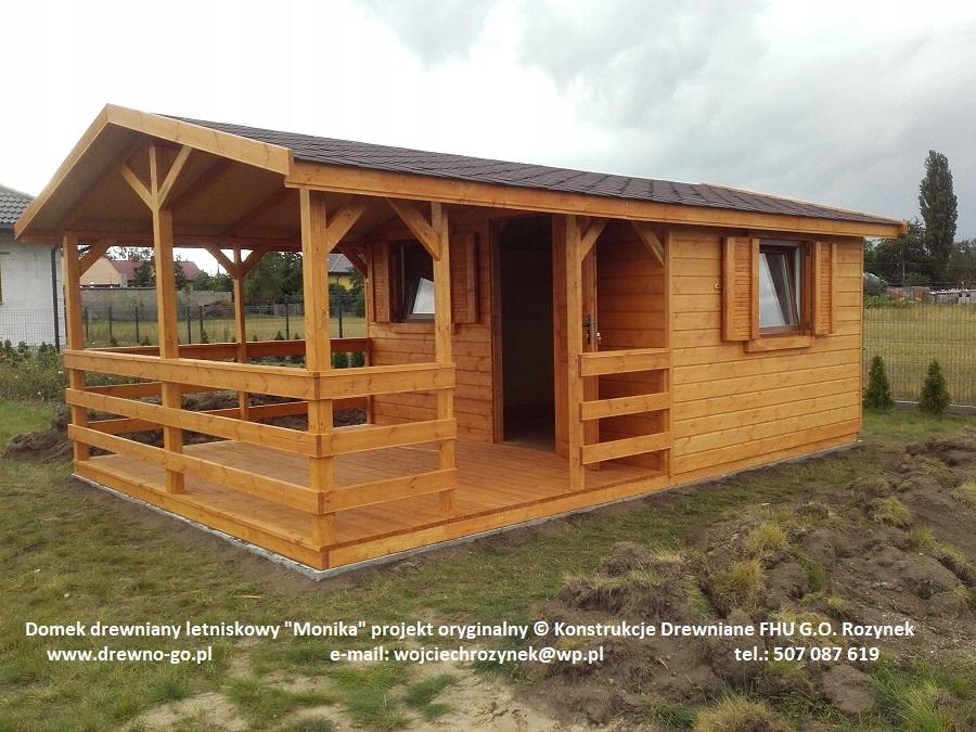 Inteligentny domek drewniany letniskowy Monika 24m2 z montażem - 7785515450 OF35