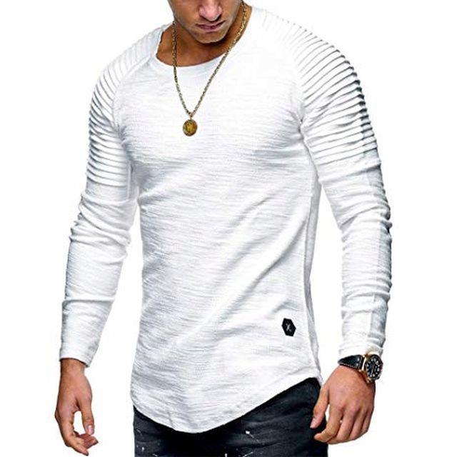 Blu Apparel Koszulka Męska Bluzka Bawełna Biała XL