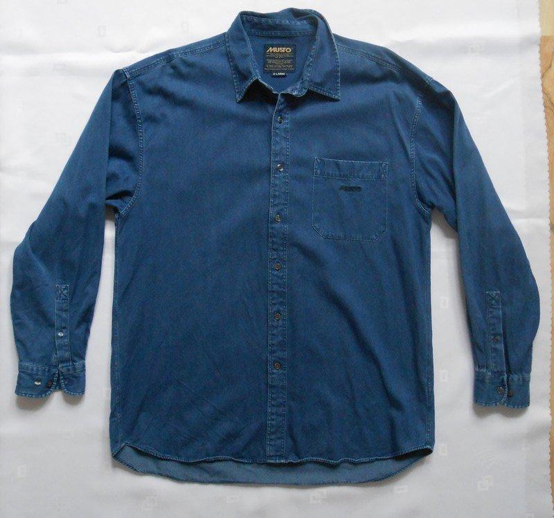 MUSTO jeansowa koszula męska XL 100% bawełna