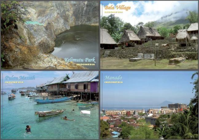 Zestaw 16x Wyspy Indonezja Sulawesi Komodo Flores